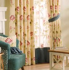 Country Rustic Curtains Curtains Country Yellow Floral Jacquard No Valance