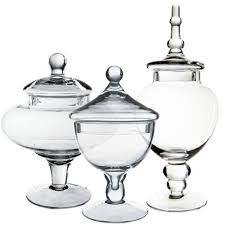 Candy Buffet Apothecary Jars by Cysexcel Glass Candy Buffet 3 Piece Apothecary Jar Set U0026 Reviews