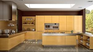 Wooden Matte Finished Kitchen Designs Home Design Lover - Finish for kitchen cabinets