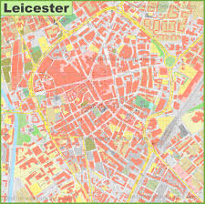 Leicester England Map by Leicester City Center Map