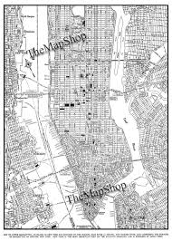 New York City Map Of Manhattan by New York City Map 1944 New York City Manhattan Street Map
