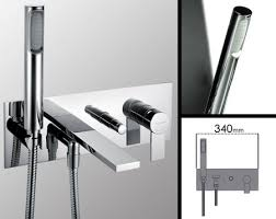 Bathroom Taps With Shower Attachment Loft Wall Mounted Bath Filler With Shower Livinghouse