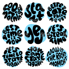 quote about right time round circle time lettering about right moment best time start