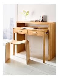 tabouret bureau gigogne étroit en bois un tiroir déco