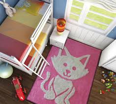 Kids Room Rug Zoomania Cat Pink Kids Room Rug