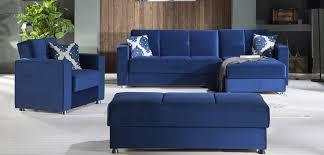 Blue Sofa Set Acme Furniture Blue Sectional Sofa Cleavon Ac51525 Brilliant