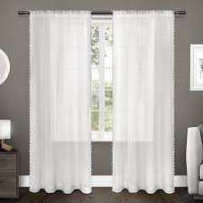 amazon com exclusive home curtains kids pom pom textured sheer