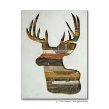 wood artwork for sale on sale winter reindeer modern rustic virginia den collection