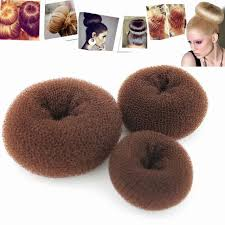 chignon tool gosear 3pcs brown hairdressing tool hair former donut