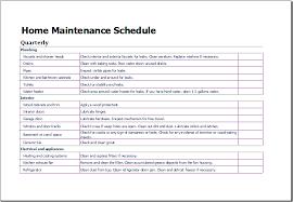 household maintenance schedule corol lyfeline co