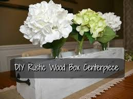 diy farmhouse rustic wood box centerpiece youtube