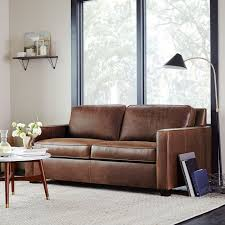 west elm leather sofa reviews henry leather sofa 76 molasses west elm