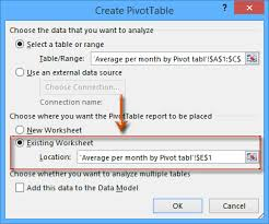 how to average per day month quarter hour with pivot table in excel