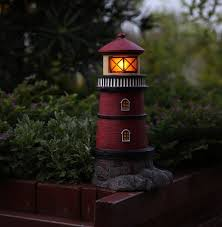 solar lighthouse light kit solar lighthouse garden statue outdoor light fresh garden decor