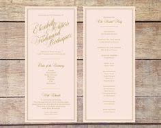 wedding ceremony program printable wedding program the layla collection wedding