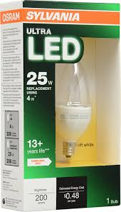 Led Light Bulbs With Candelabra Base by Sylvania 79634 Ultra 4w Led Decor Lamp With Candelabra Base