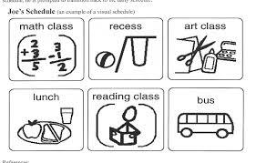 individual visual schedules polk elementary