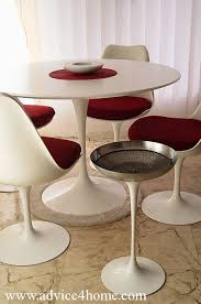 modern white round dining table red modern round chair and dining table design in dining room