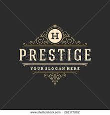 luxury logo template flourishes calligraphic stock vector