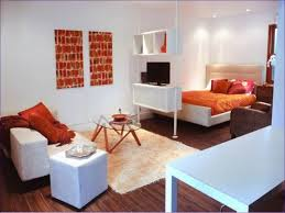 living room one bedroom apartment design small studio furniture