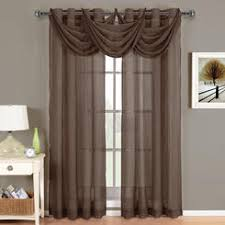 Sheer Curtains With Valance Sheer Curtain With Attached Valance