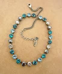 necklace swarovski crystals images Crystal necklace aqua hematite new patina crystals 8mm jpg