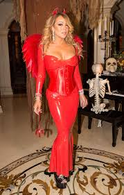 mariah carey dresses up as devil for annual halloween party