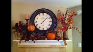 home fall mantel decorating ideas youtube