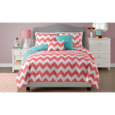 twin size beds for girls twin size reversible chevron comforter bedding set in coral