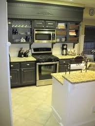hide kitchen soffit with molding and crown molding kitchen