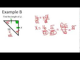 45 45 90 right triangles examples geometry concepts youtube