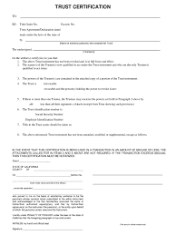 certification of trust form 3 free templates in pdf word excel
