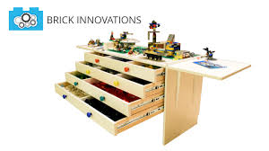 Legos Table Brick Boss Table Lego Themed Build Table And Toy Storage By