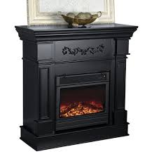 fingerhut electric fireplace black