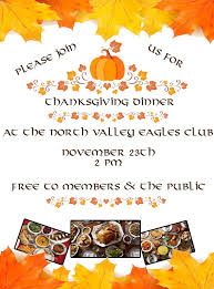 thanksgiving dinner at the eagles columbia falls area chamber