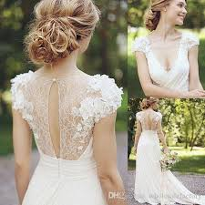 discount 2018 a line garden wedding dresses v neck pleats chest