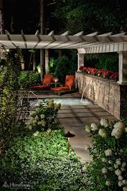 beautifully lit pergola hursthouse