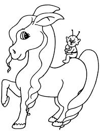 alien coloring tiny alien horse