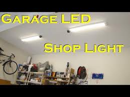 led shop light fixtures garage led shop light fixture replaces fluorescent garage lights