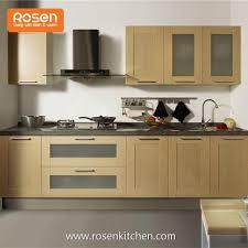 frameless shaker style kitchen cabinets china customized frameless shaker country style pvs stained