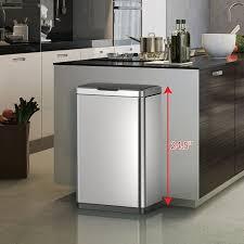 modern kitchen bins interior simplehuman trash cans with dark granite top also modern