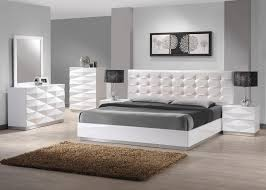 contemporary king size bedroom sets amazon com j m furniture verona modern white lacquer leather