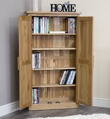 arden solid oak furniture cd dvd cabinet cupboard amazon co uk