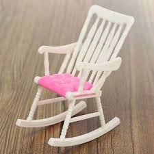 Pink Rocking Chair For Nursery Miniature Rocking Chair Dollhouse Nursery Furniture Accessories