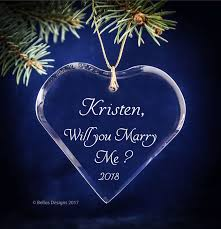 will you me marriage ornament