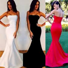 simple strapless prom dresses fitted mermaid prom dresses classy