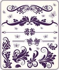 ornament elements vector free vector graphics design