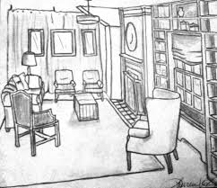 sketches studio bel air new construction great room pencil sketch