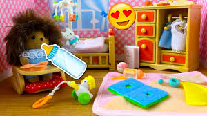 Calico Critters Living Room by Sylvanian Families Calico Critters Baby Nursery Set Unboxing And
