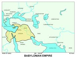 Babylonian Empire Map Prophetic Charts Simple Bible Prophecy